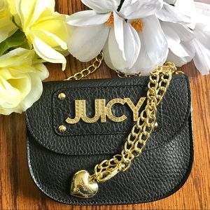 NWT Juicy Couture Wild Card Chain Belt Black Bag
